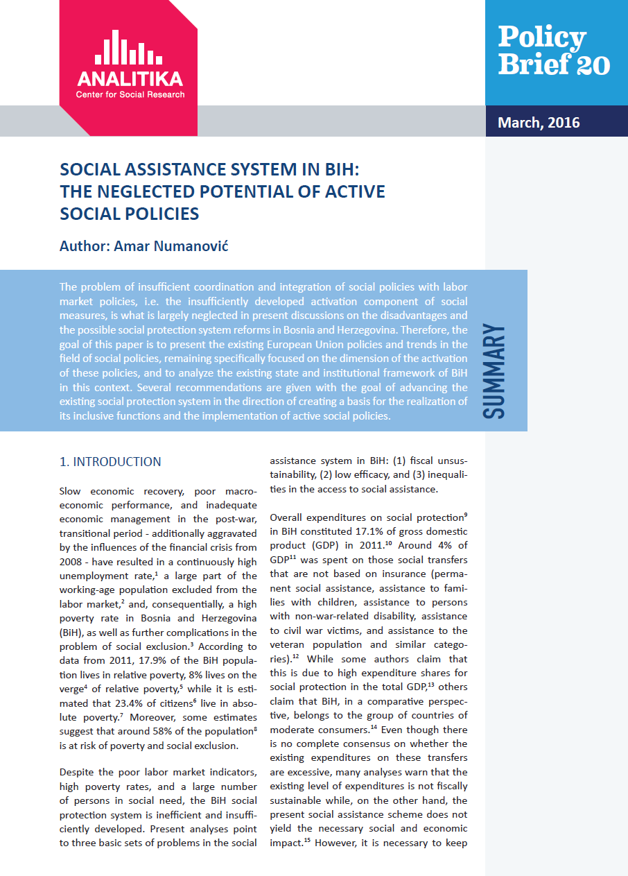 Social assistance: a selection of sites